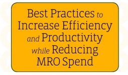 Best Practices to Increase Efficiency and Productivity while Reducing MRO Spend
